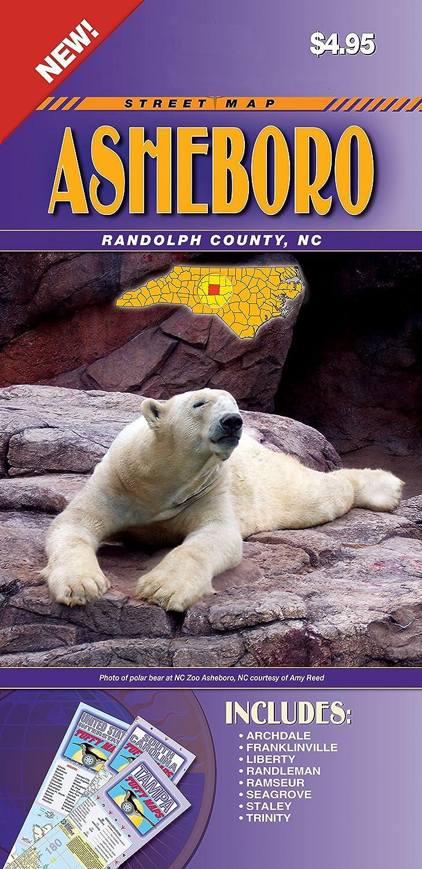 Amazon.com : Asheboro/Randolph County NC Fold Map : Office Products