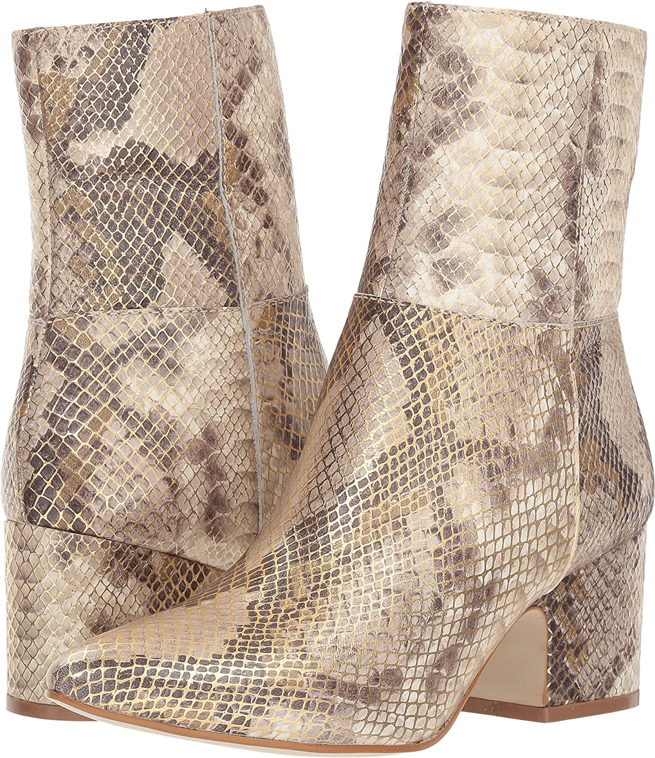 Matisse Women's at Ease Ankle Boot B07CZ1CVX1 7 M US|Metallic Snake Leather