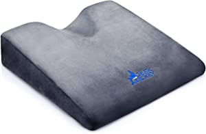 Car Seat Cushion - Premium Therapeutic Grade Automobile Wedge Pad to Elevate Height and Comfort While Driving