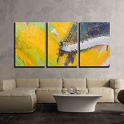 Amazon.com: wall26 - 3 Piece Canvas Wall Art - Multicolored Oil ...