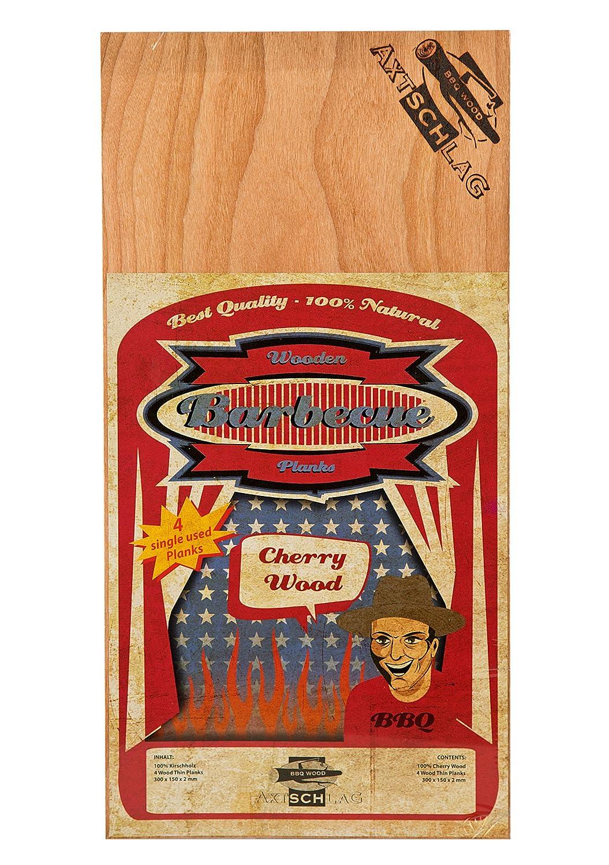 Axtschlag Wooden Barbecue Planks Cherry, 300x 150x 2mm Axtschlag GmbH 100G02M0002V
