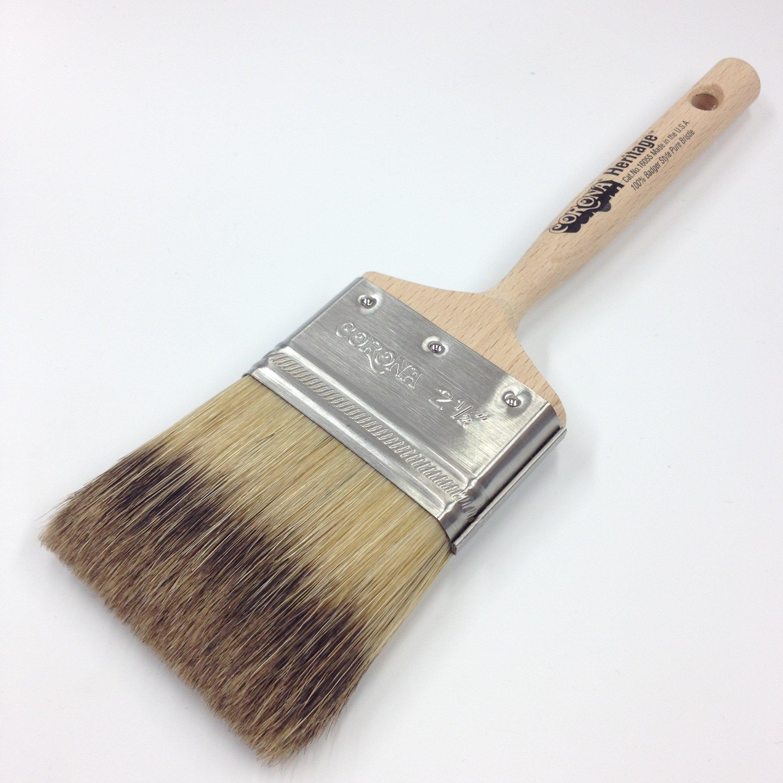 Corona 2.5'' Heritage Professional Badger-Style Bristle Paint Brush
