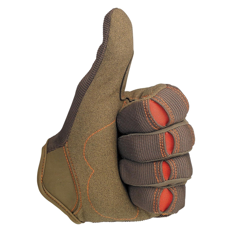 Biltwell Moto Gloves Brown//Orange, Medium
