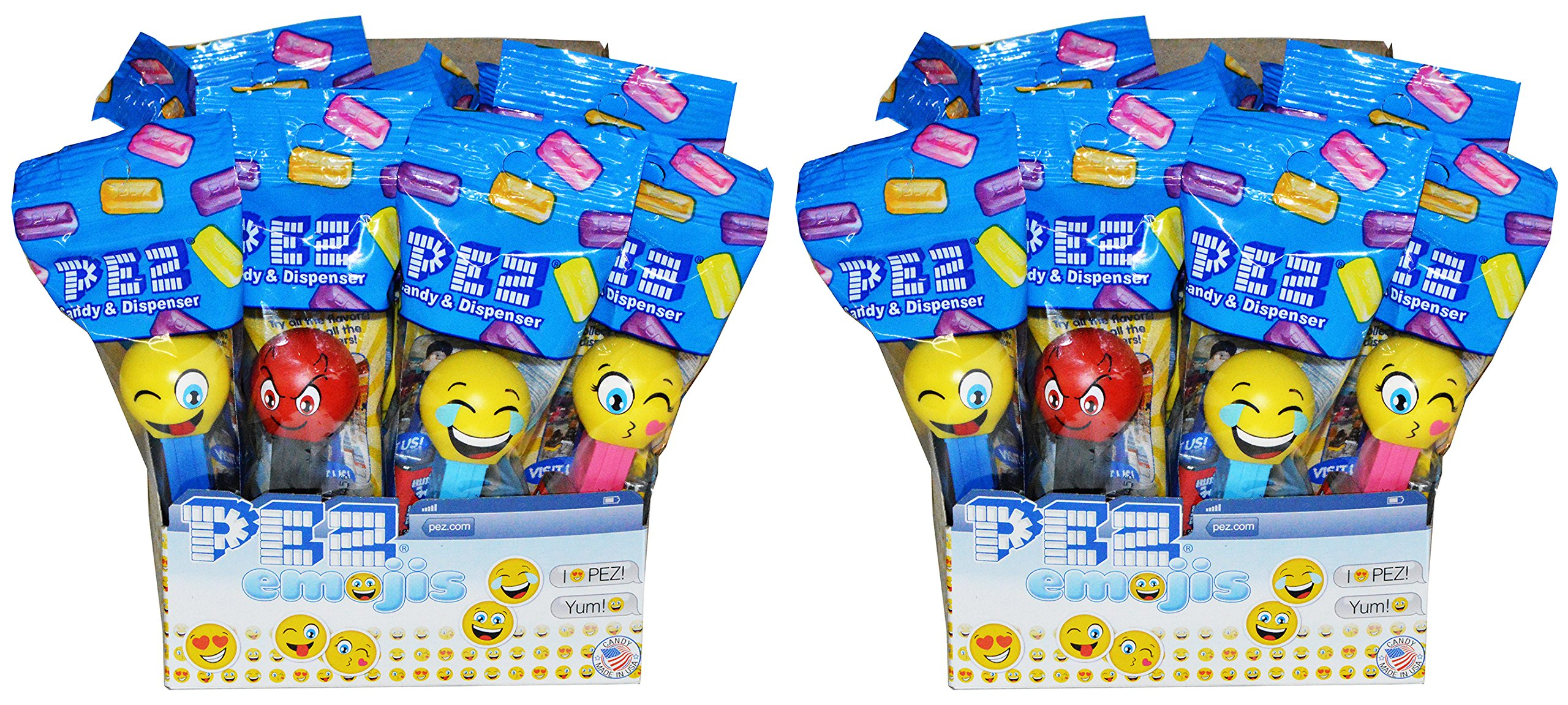 Pez Emoji Candy Dispensers Party Favors Pack of 24