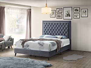 Glory Furniture Alba Queen Bed Sleigh, Gray
