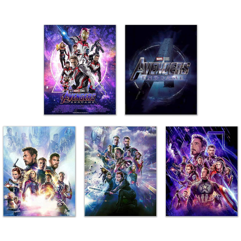 Avengers Endgame Poster Prints - Set of Five (8x10) Wall Art Decor