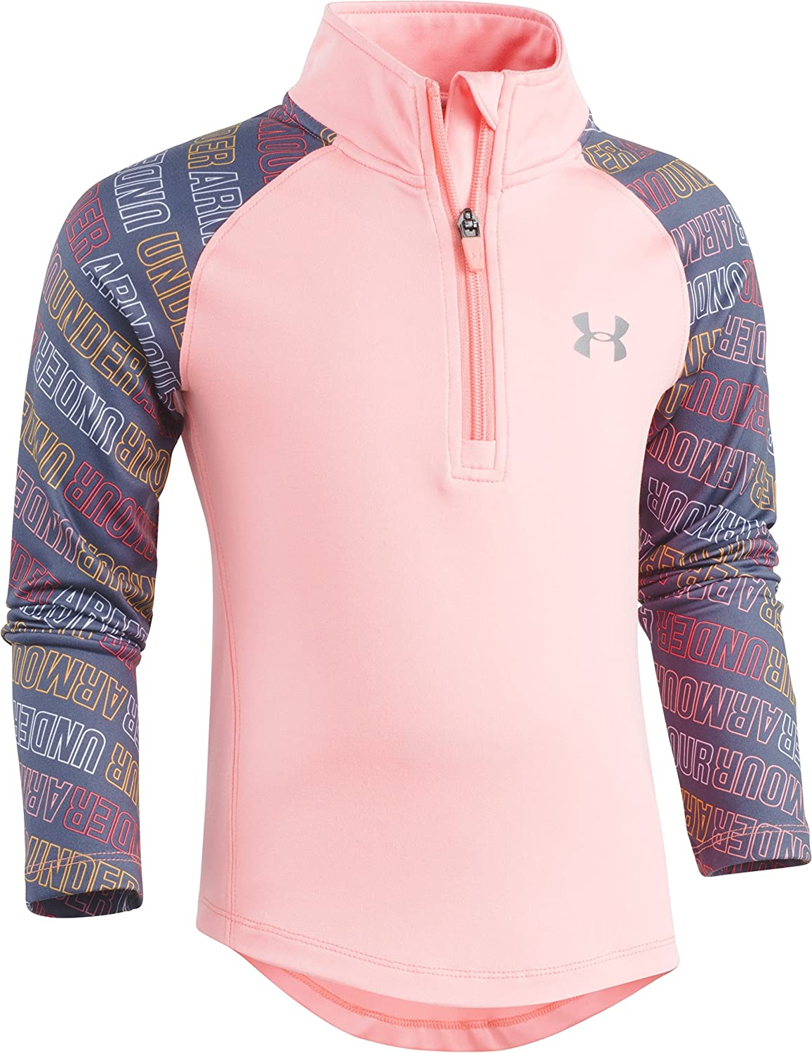 Under Armour Girls' Wordmark 1/4 Zip Track Sweater