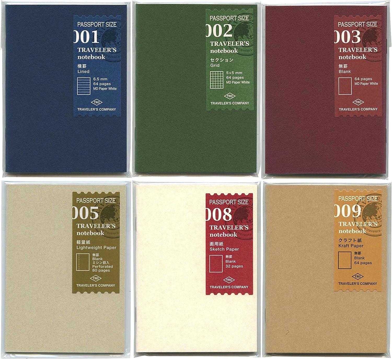 by Midori Travelers notebook Passport size Refill lightweight paper 14371006