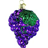 Old World Christmas Purple Grapes Glass Blown Ornament