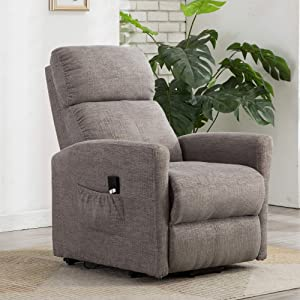 Merax Electric Recliner Chair Lazy Boy Sofa for Elderly, Office or Living Room, Linen