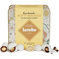 Lavolio Nutty Mini Eggs Confectionery Gift Tin (175g) - Premium Selection of Covered Nuts and Luxury Chocolate Sweets, Perfect Present for Him or Her