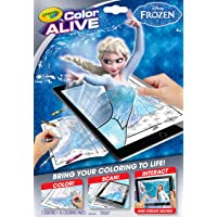 Crayola Frozen Color Alive Action Coloring Pages by Crayola