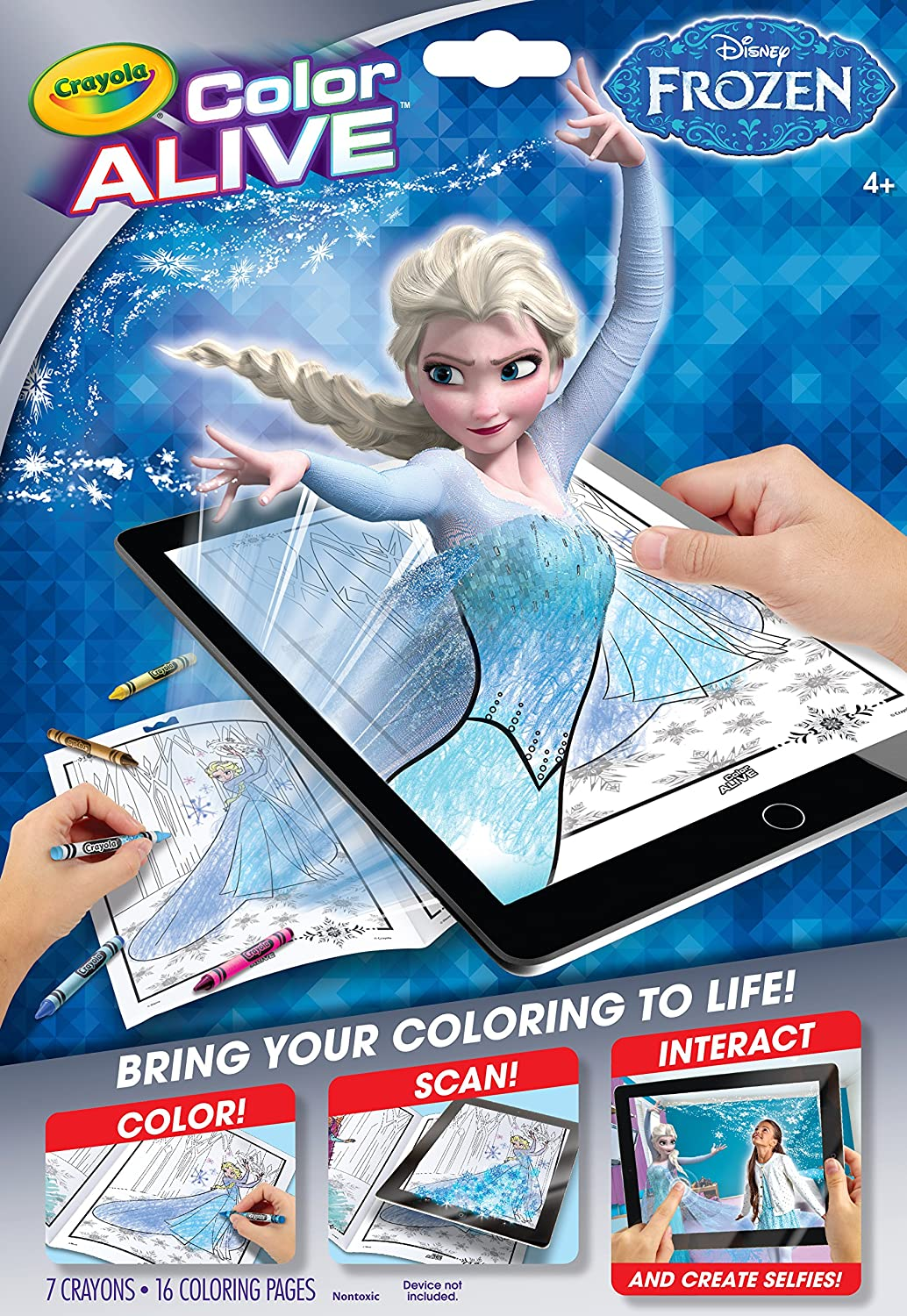 Amazon Crayola Frozen Color Alive Action Coloring Pages Toys Games