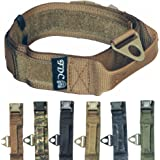 FDC Heavy Duty Military Army Tactical K9 Dog Collars Handle Hook & Loop Width 1.5in Plastic Buckle Medium Large