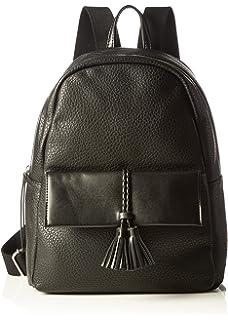 Steve Madden Bashh Backpack, Sacs à dos femme, Schwarz (Black), 12.5x30x23 cm (B x H T)