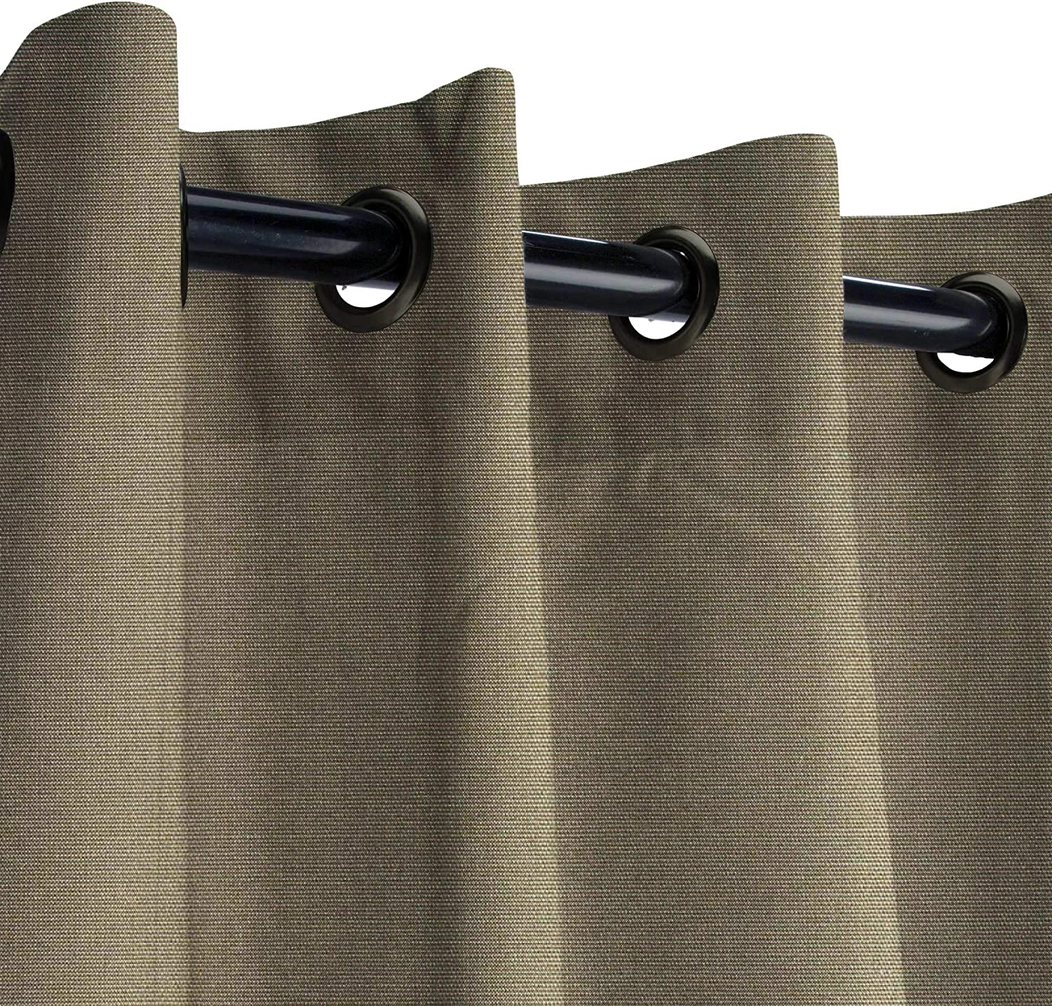 Amazon Com Sunbrella Canvas Taupe Outdoor Curtain With Dark Gunmetal Grommets 50 In Wide X 108 In Long Garden Outdoor