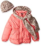 Amazon Price History for:Pink Platinum Girls' Quilted Puffer With Hat and Scarf