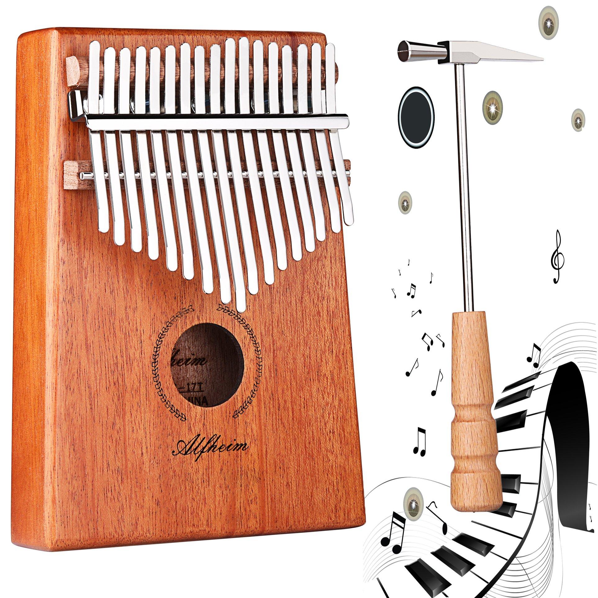 Thumb Piano, Alfheim 17 Keys Kalimba Thumb Piano Mbira,Fingers Piano African Instrument