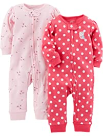 605005f45dc9 Baby Girl s One Piece Footies
