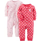 Simple Joys by Carter's baby-girls 2-Pack Cotton Footless Sleep and Play Footie