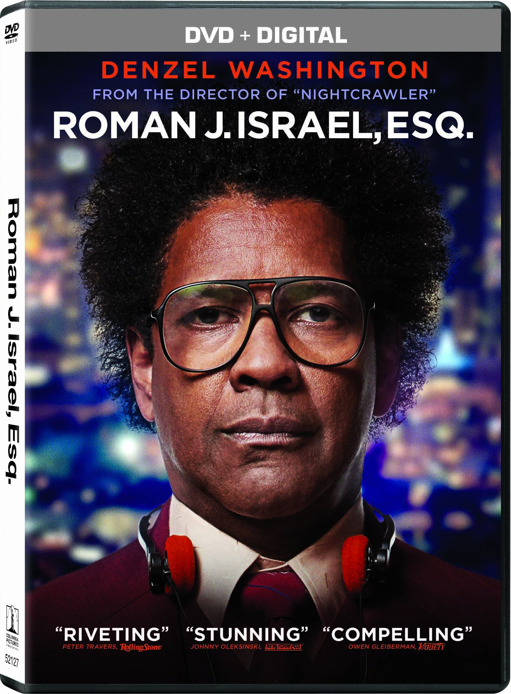 DVD : Roman J. Israel, Esq. (Widescreen, Dolby, AC-3, , Dubbed)