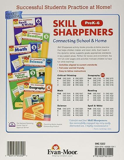 Skill Sharpeners Science Grade K: Evan-Moor Corp