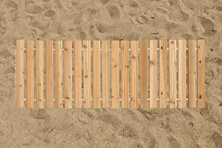 product image for Furniture Barn USA 3 Ft. Wide Roll-Up Outdoor Beach Walkway Red Cedar - 5 Ft. Length
