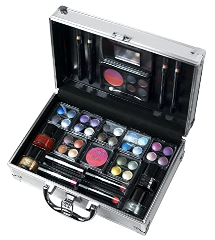 Markwins 4571710 - Maletín de maquillaje, color plata