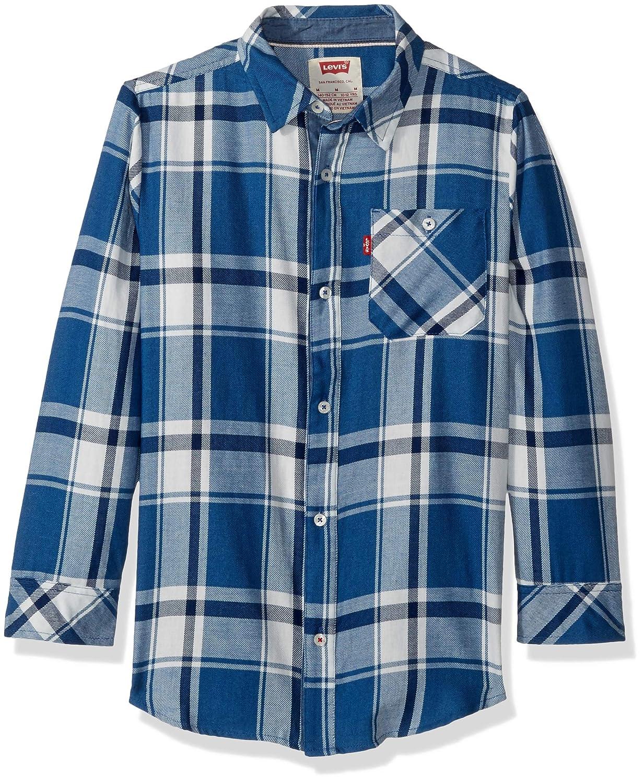 Levi's Boys' Long Sleeve One Pocket Shirt Galaxy Blue 4T Levi' s 718661-U9P
