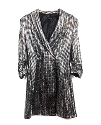 ZARA Damen Blazer-Kleid aus Metallic-Fasern 2495/560 (Large): Amazon ...