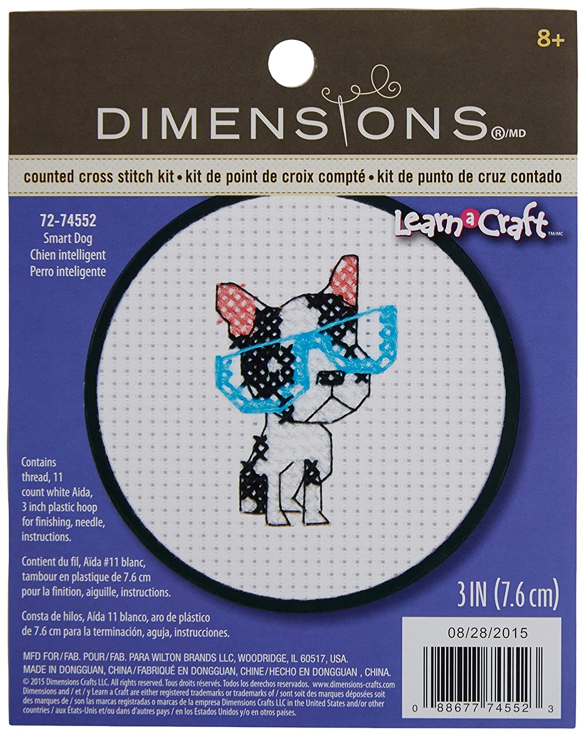 Dimensions Needlecrafts 72-74552 Smart Dog Counted Cross Stitch Kit