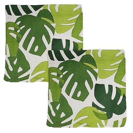 Pfister Cojín con palmeras de hojas diseño de calidad, aprox ...