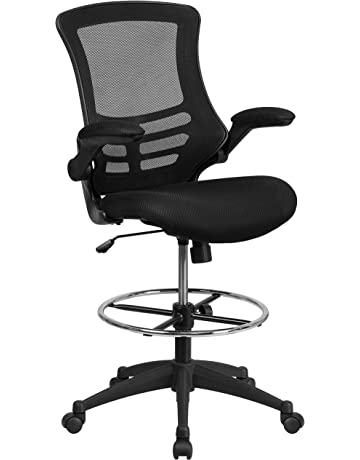 4d73762cc63 Flash Furniture Mid-Back Swivel Task Chair with Flip-Up Arms