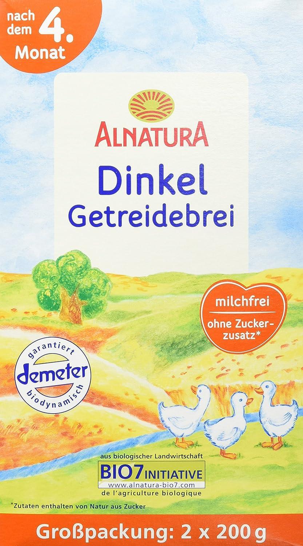 Alnatura Bio Dinkel-Getreidebrei, 4er Pack (4 x 400 g) 371396