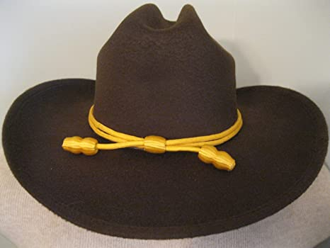 fd6f5d0ce Amazon.com: Western Cowboy Hat - Cattleman's with Cavalry Band - Brown -  Small/medium: Sports & Outdoors