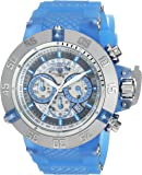 Invicta Men's 'Subaqua' Quartz Stainless Steel and Silicone Casual Watch, Color:Blue (Model: 24365)