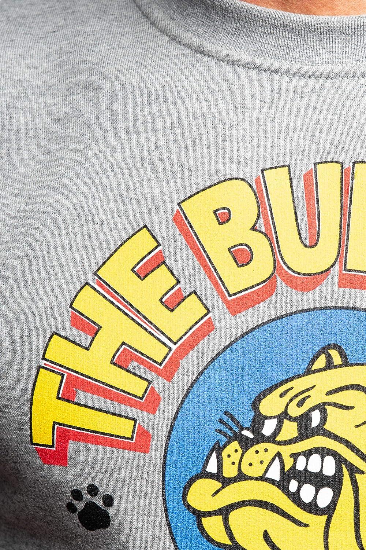 Bulldog Felpa Girocollo Uomo Grigio Melange
