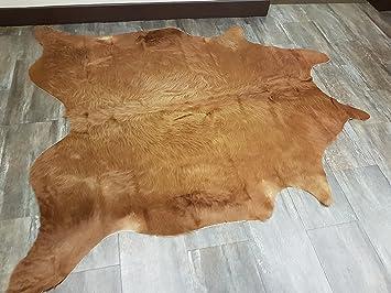 dfa61daef6b Amazon.com  Handpicked Premium Brazilian Camel Cowhide Leather Rug ...