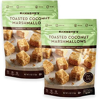 product image for Hammond's Candies - Gourmet Toasted Coconut Marshmallows - 2 Bags, Great for Snacking, Hot Chocolate, S'mores and Homemade Brownies, Small Batches, Handcrafted in the USA