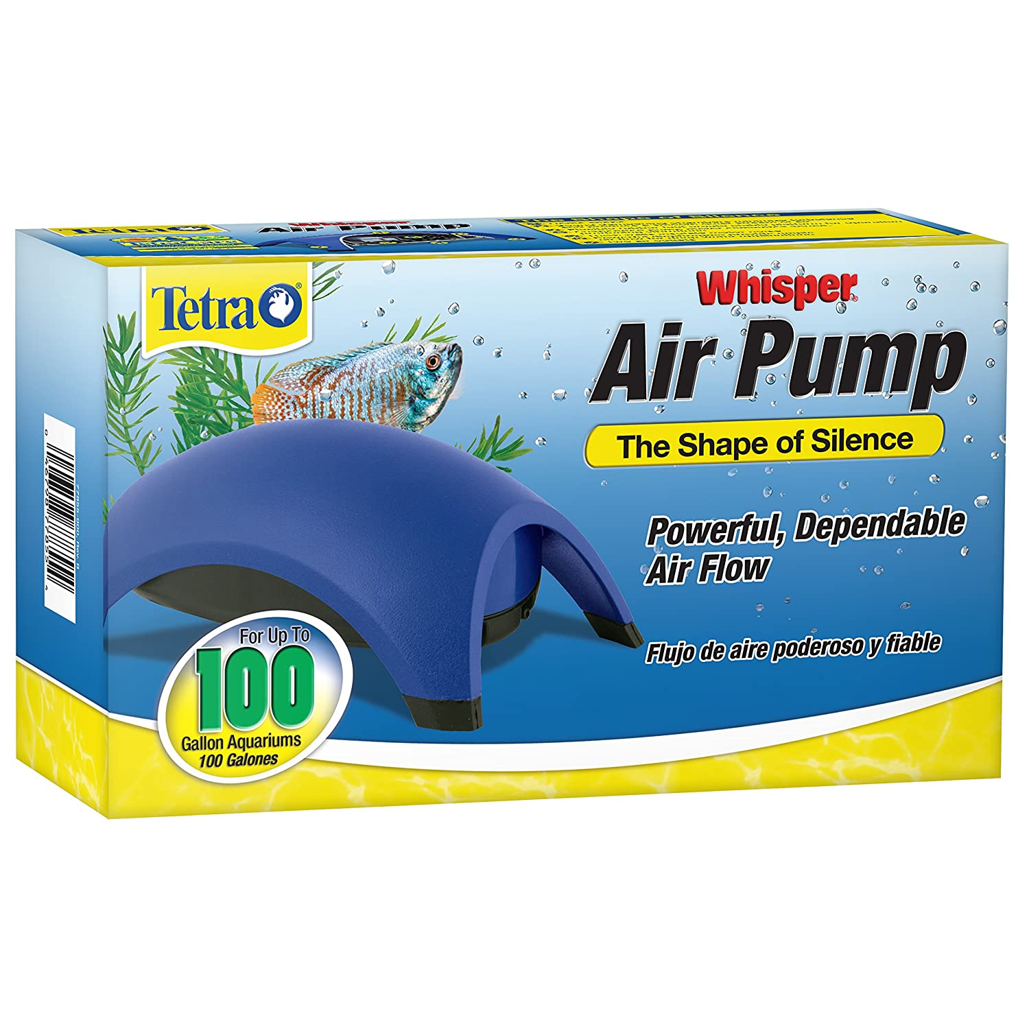 919Nc0VheXL._SL1500_ amazon com tetra 77855 whisper air pump, 100 gallon aquarium  at bakdesigns.co
