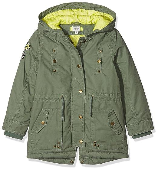 Pepe Jeans Jazz JR PG400649, Abrigo para Niñas, Verde (Leaf Green 676)