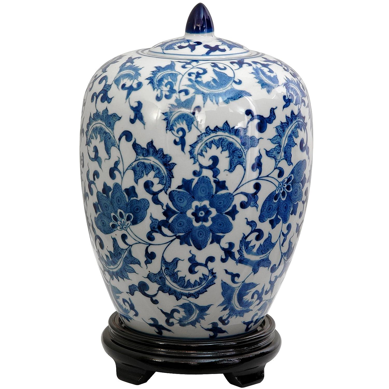 """Fina decoración del hogar ideas de regalo – 12"""" Ming azul y blanco chino exportación porcelana reproducción"""