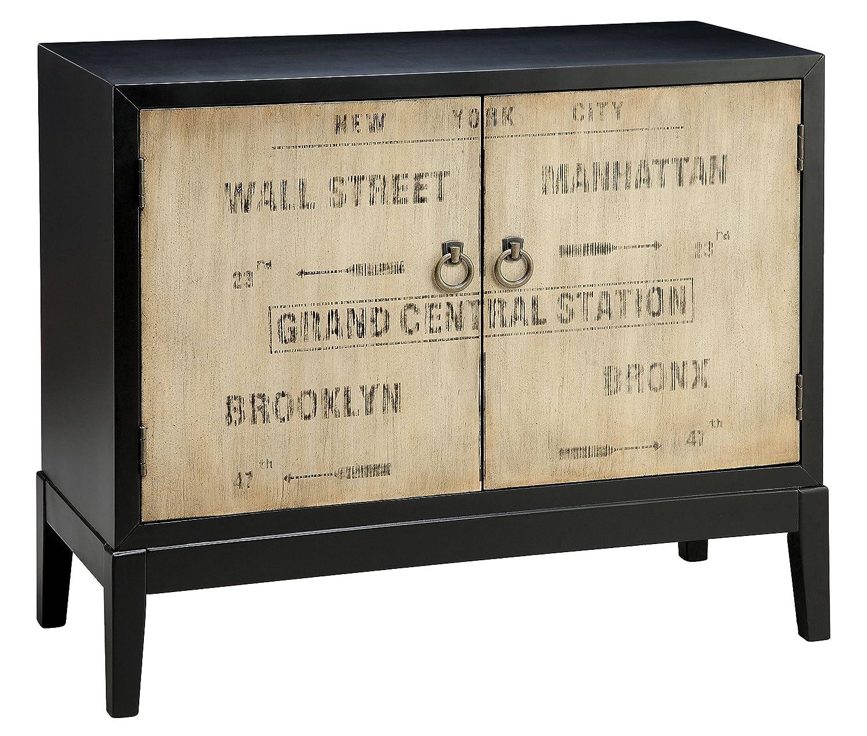 Amazon.com: Stein World Furniture Station Accent Cabinet, Dark Espresso,  Cream: Kitchen U0026 Dining