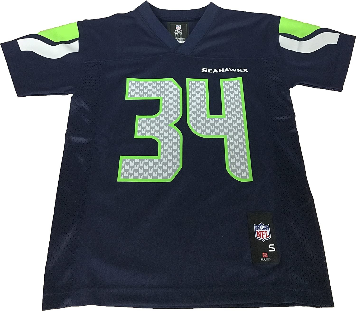 Thomas Rawls Seattle Seahawks #34 Navy NFL Youth Home Mid Tier Jersey