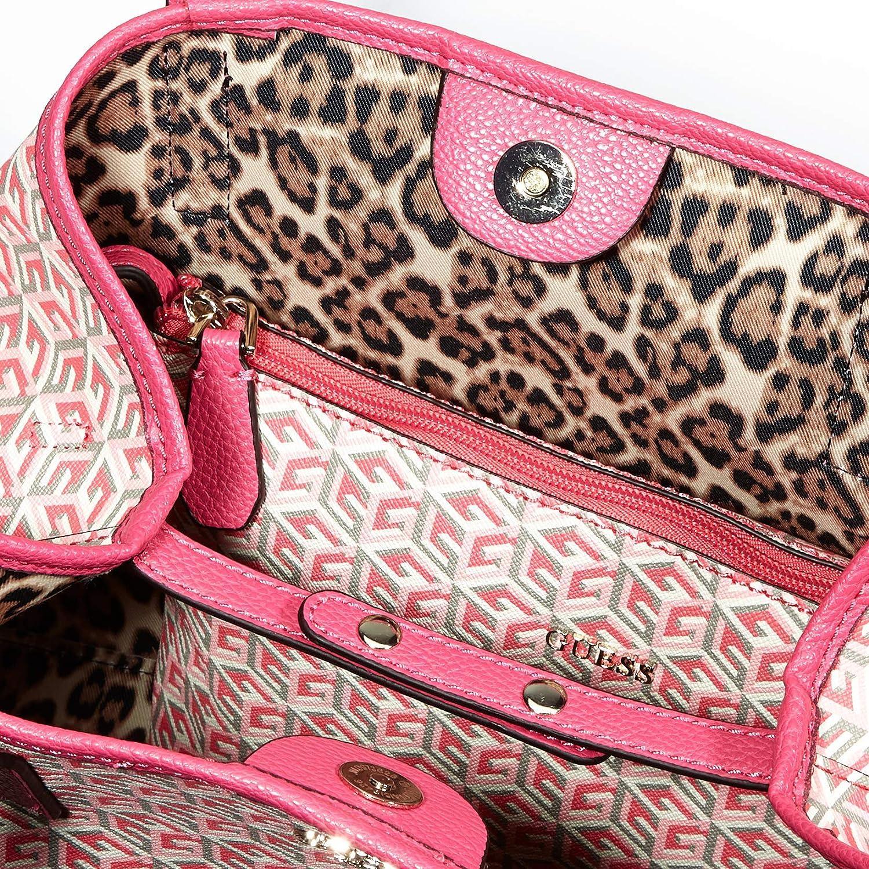 Guess Vikky, Borsa Tote Donna Multicolore (Pink Multi)
