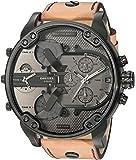 Diesel Men's Quartz Watch, Chronograph Display and Leather Strap DZ7406