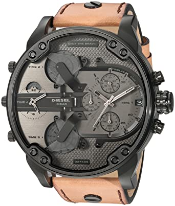 998f46b4adf1 Diesel Men s Mr Daddy 2.0 Quartz Stainless Steel and Leather Chronograph  Watch
