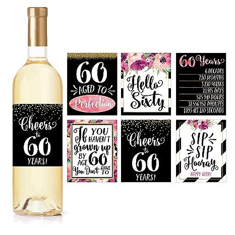 6 botella de vino para la celebración del 60 cumpleaños ...