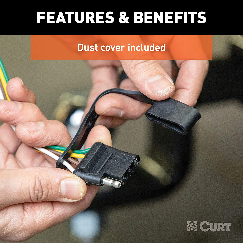 CURT 56336 Vehicle-Side Custom 4-Pin Trailer Wiring Harness for Select Dodge Durango