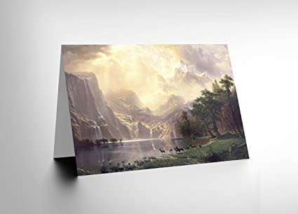 Amazon wee blue coo new albert bierstadt among sierra nevada wee blue coo new albert bierstadt among sierra nevada mountains old greeting card cl1016 m4hsunfo